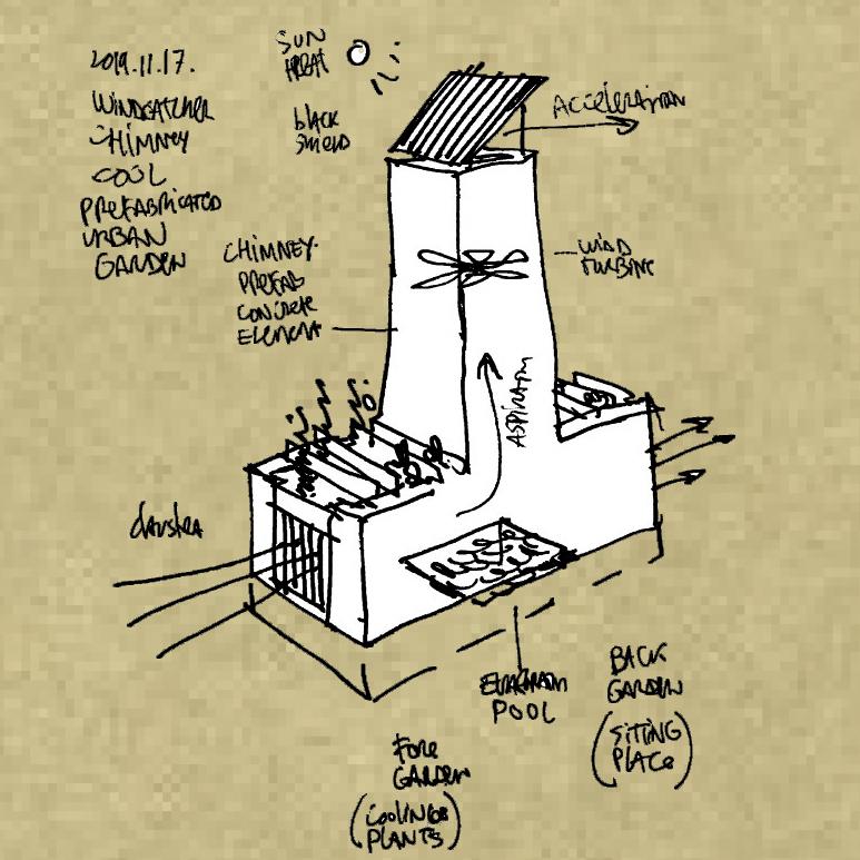 Solar Chimney -  Cool Garden Beyrouth